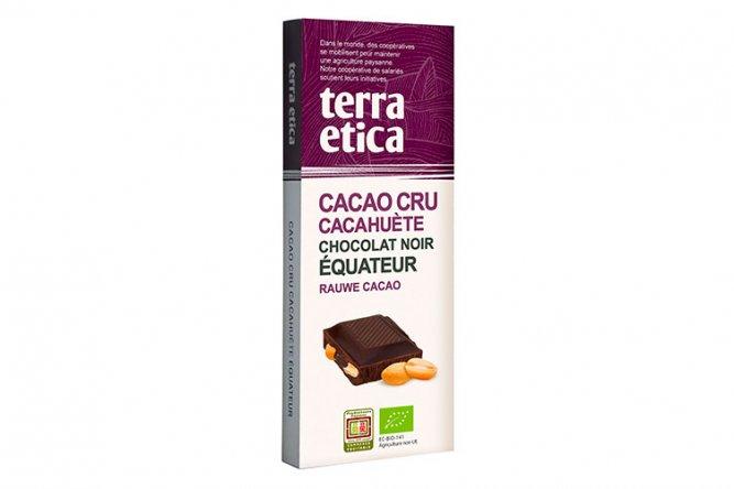 Tablette Cacao Cru Cacahuètes Chocolat Noir 70%