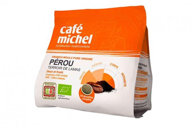 Dosettes Souples Bio Pérou Café Michel 18 dosettes