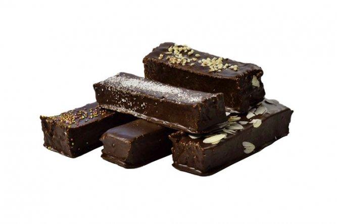 Barre de Guimauve parfum vanille enrobée de chocolat noir