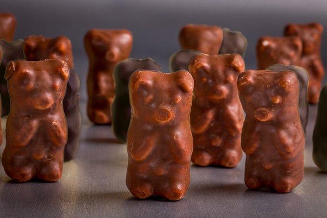 Coffret de 8 Oursons Guimauve enrobés de Chocolat