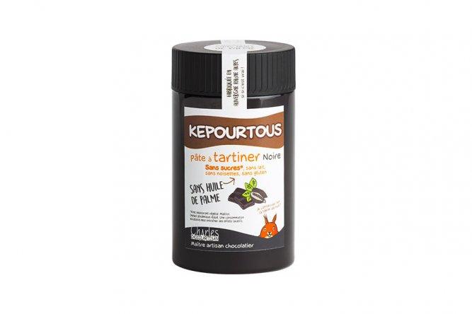 Pâte à Tartiner Kepourtous Noir Sans Sucre