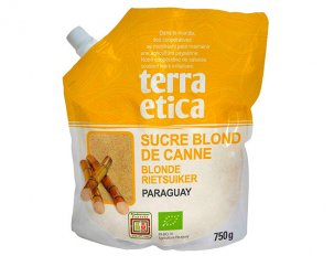 photo sucre blond de canne bio terra ética